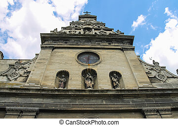 Bernardine Church and Monastery in the Old Town of Lviv. Ukraine