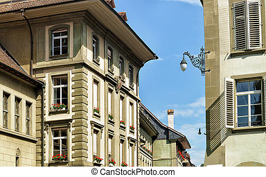 berne, suisse, maisons