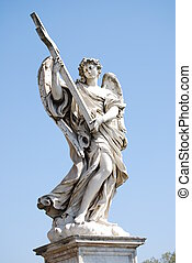 Bernini marble statue of angel