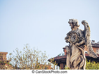 Bernini's marble statue of angel