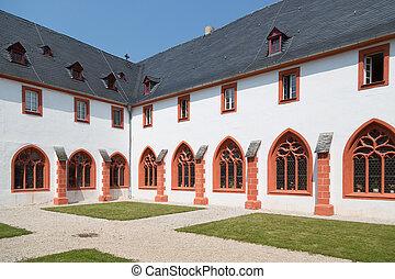 bernkastel, allemand, vieux, allemagne, abbaye