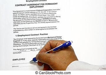 beroep, contracteren