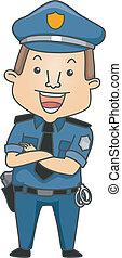 beroep, politieagent