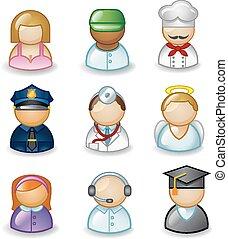 beroepen, avatars, anders