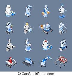 beroepen, set, robot, pictogram