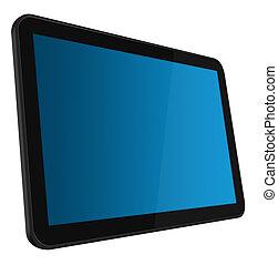 beroeren, lcd, scherm, tablet