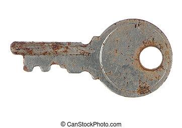 berozsdásodott, öreg, kulcs
