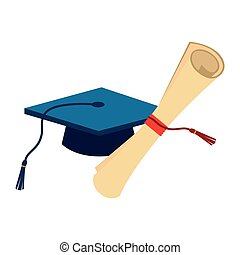 berretto, certificato, graduazione