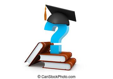 berretto, concetto, diploma, graduazione