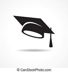 berretto, graduazione, simbolo