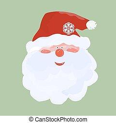 berretto, santa, rosso