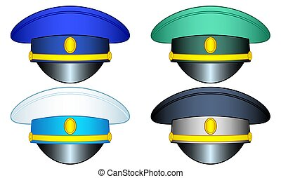 berretto, set, servizio