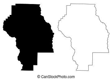Berrien County, Georgia (U.S. county, United States of America, USA, U.S., US) map vector illustration, scribble sketch Berrien map