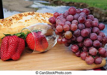 Berries And Wine Glass