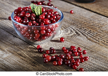 berries cranberries on the table