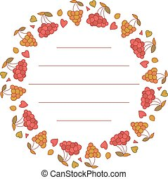 Berries frame for your text. Cute berries arranged in a shape of the wreath.