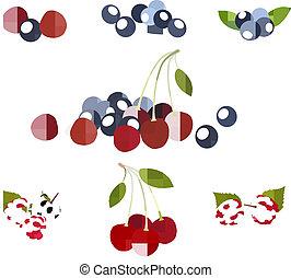 berries., groep