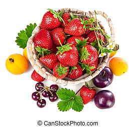 Berries healthy eating fruits harvest strawberries