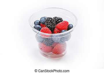 Berries in a cup