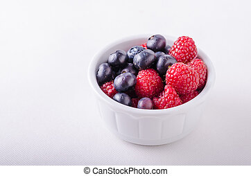 Berries in white bowl