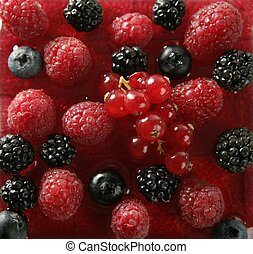 Berries mix dessert - Berries, mixed dessert with strwberry...