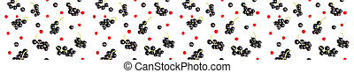berries of black currant and red currant isolated on white background