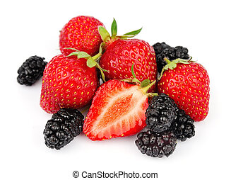 berries of strawberry and mulberry