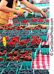 berries on sale at the farmer's market
