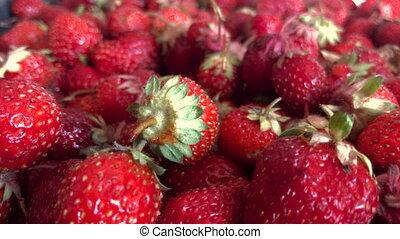 berries ripe tasty Strawberry close-up
