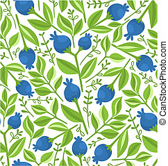 Berries seamless pattern, background vector illustration