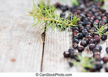berries, tørret, juniper