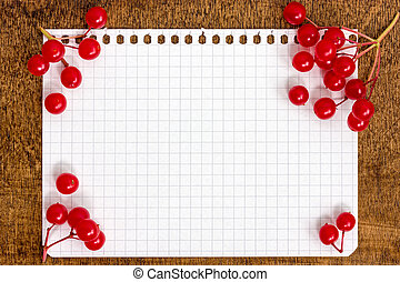 Berries with a paper sheet