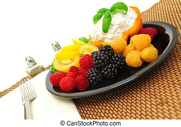 Berry And Cottage Cheese Salad