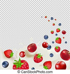 Berry Borders With Transparent Background