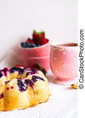 Berry Cake On White Background