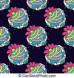 Berry color seamless pattern