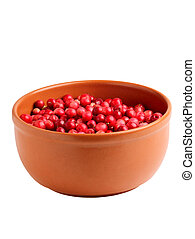 Berry cranberries in a bowl.