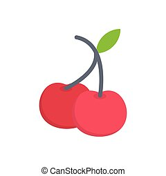 berry  flat color icon