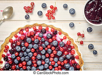 Berry fruit on the cake