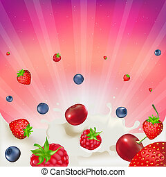 Berry Mix - Strawberry, Raspberry, Bilberry And Cherry, ...