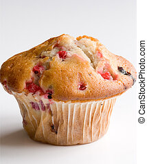 Berry muffin - Raspberry muffin isolated on white background