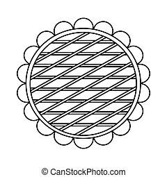 Berry pie icon, outline style