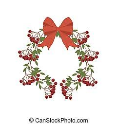 Berry wreath illustration