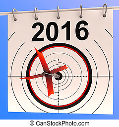bersaglio, annuale, pianificazione, ordine del giorno,...