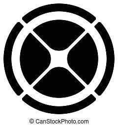 bersaglio, gui, simbolo., grafico, cross-hair, segmentato, ...