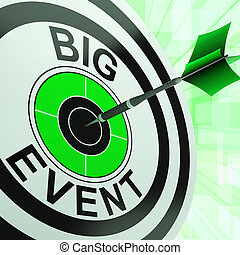 bersaglio, upcoming, grande, occasione, evento, mostra