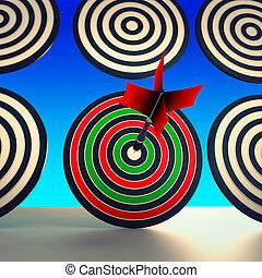 bersaglio, vincitore, mostra, abilità, esecuzione, e, accuratezza