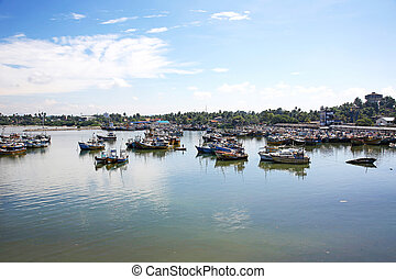 the Beruwala fishing port in Sri Lanka