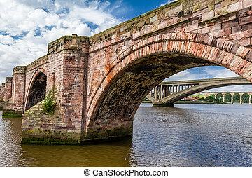berwick-upon-tweed, pont, vieux