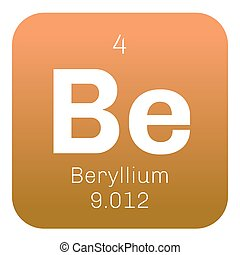 Periodic table element beryllium icon periodic table vectors beryllium chemical element urtaz Image collections